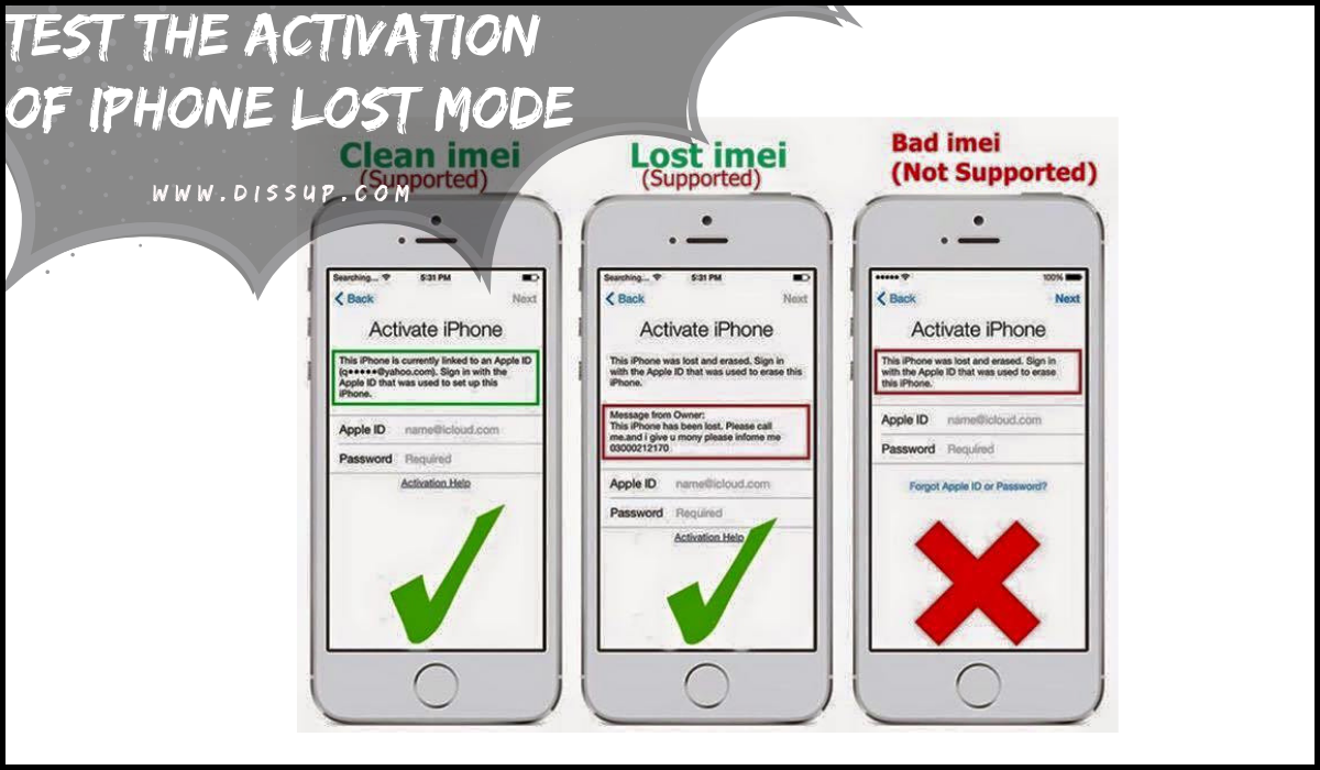 ACTIVATION OF IPHONE LOST MODE